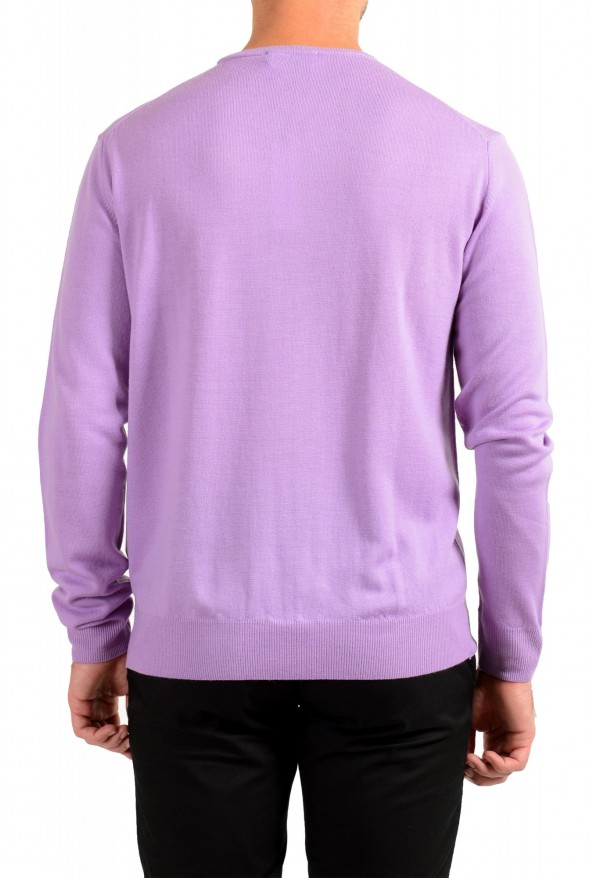 Versace Collection Men's Purple 100% Wool Crewneck Pullover Sweater: Picture 3