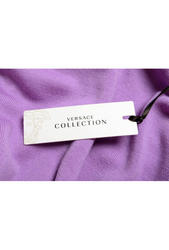 Versace Collection Men's Purple 100% Wool Crewneck Pullover Sweater: Picture 5