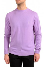 Versace Collection Men's Purple 100% Wool Crewneck Pullover Sweater