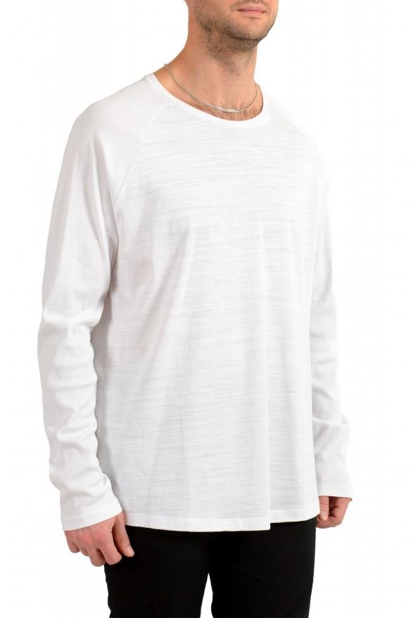 "Hugo Boss Men's ""Terell 50"" White Crewneck Long Sleeve T-Shirt: Picture 2"
