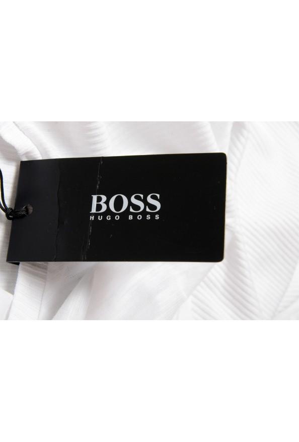 "Hugo Boss Men's ""Terell 50"" White Crewneck Long Sleeve T-Shirt: Picture 5"