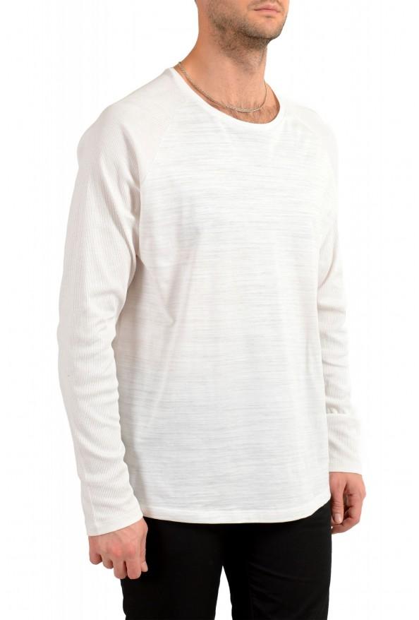 "Hugo Boss Men's ""Terell 50"" Ivory Crewneck Long Sleeve T-Shirt: Picture 2"