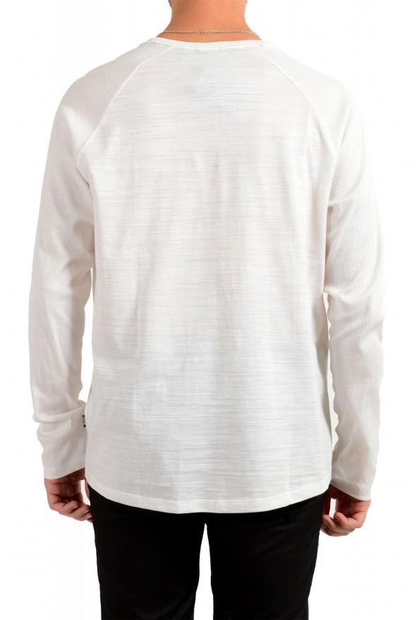 "Hugo Boss Men's ""Terell 50"" Ivory Crewneck Long Sleeve T-Shirt: Picture 3"