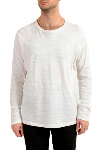 "Hugo Boss Men's ""Terell 50"" Ivory Crewneck Long Sleeve T-Shirt"