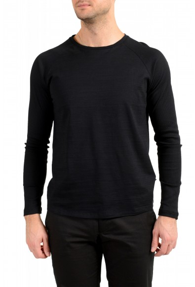 "Hugo Boss Men's ""Terell 50"" Black Crewneck Long Sleeve T-Shirt"