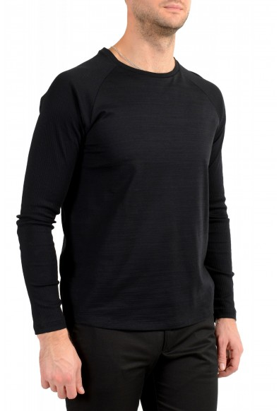 "Hugo Boss Men's ""Terell 50"" Black Crewneck Long Sleeve T-Shirt: Picture 2"
