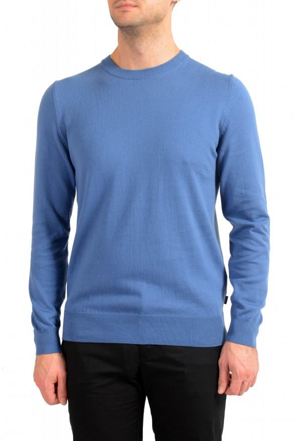"Hugo Boss ""Pacas"" Men's Blue Crewneck Pullover Sweater"