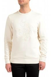 "Hugo Boss ""Stadler 56"" Men's Ivory Crewneck Sweatshirt Sweater"