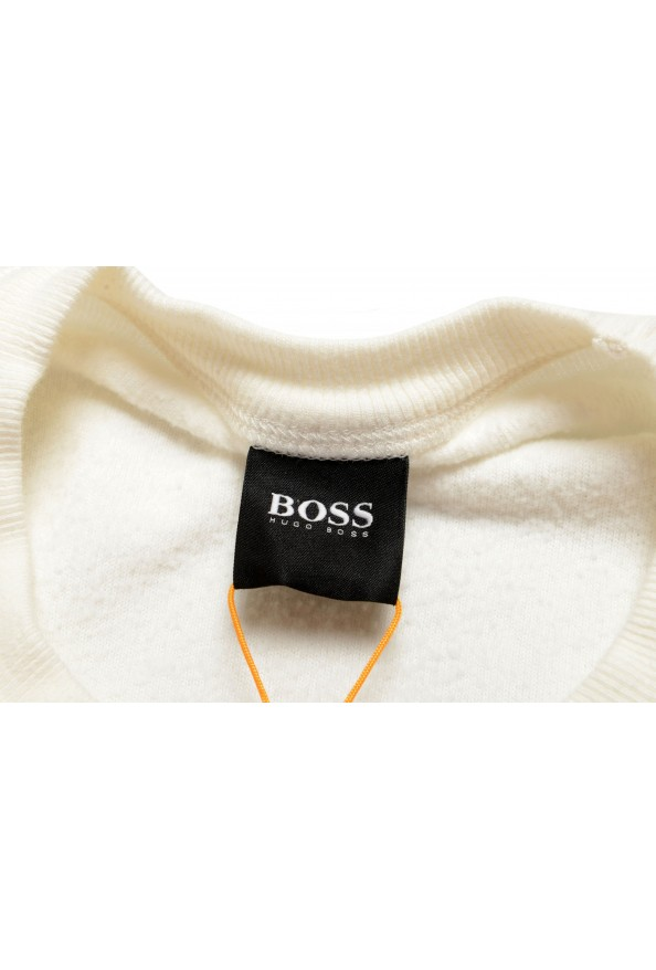 """Hugo Boss """"Weich"""" Men's White Crewneck Sweatshirt Sweater: Picture 7"""