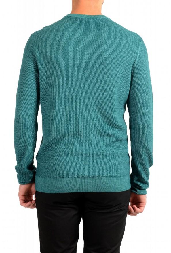 "Hugo Boss ""Kustorio"" Men's Green 100% Wool Crewneck Pullover Sweater: Picture 3"
