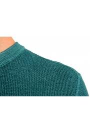 "Hugo Boss ""Kustorio"" Men's Green 100% Wool Crewneck Pullover Sweater: Picture 5"