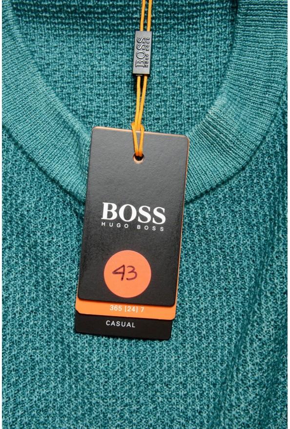 "Hugo Boss ""Kustorio"" Men's Green 100% Wool Crewneck Pullover Sweater: Picture 6"
