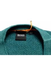"Hugo Boss ""Kustorio"" Men's Green 100% Wool Crewneck Pullover Sweater: Picture 7"