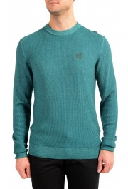 "Hugo Boss ""Kustorio"" Men's Green 100% Wool Crewneck Pullover Sweater"