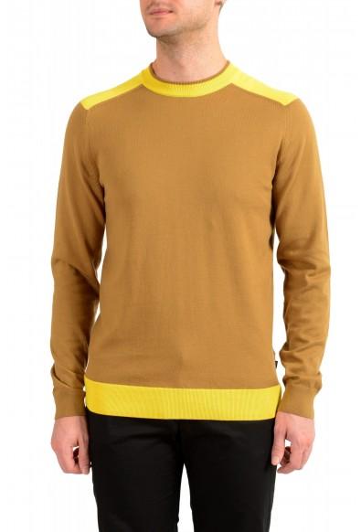 """Hugo Boss """"Pintus"""" Men's Beige Crewneck Pullover Sweater"""