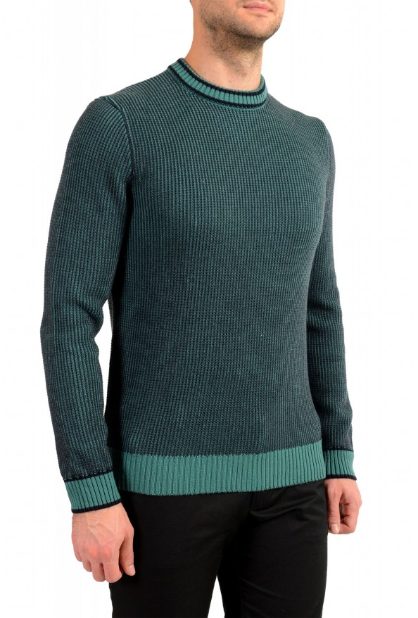 "Hugo Boss ""Denotti"" Men's Green Wool Crewneck Pullover Sweater: Picture 2"
