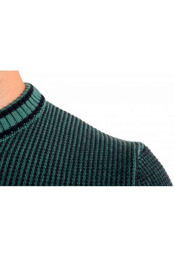 "Hugo Boss ""Denotti"" Men's Green Wool Crewneck Pullover Sweater: Picture 4"