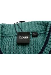 "Hugo Boss ""Denotti"" Men's Green Wool Crewneck Pullover Sweater: Picture 5"