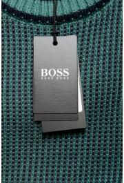 "Hugo Boss ""Denotti"" Men's Green Wool Crewneck Pullover Sweater: Picture 6"