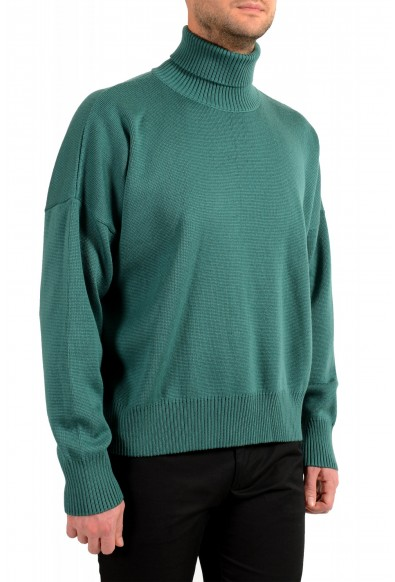 "Hugo Boss ""Dibuono"" Men's Green 100% Wool Turtleneck Pullover Sweater: Picture 2"