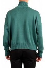 "Hugo Boss ""Dibuono"" Men's Green 100% Wool Turtleneck Pullover Sweater: Picture 3"