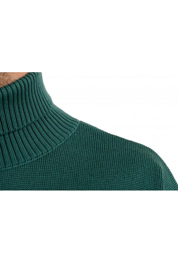 "Hugo Boss ""Dibuono"" Men's Green 100% Wool Turtleneck Pullover Sweater: Picture 4"