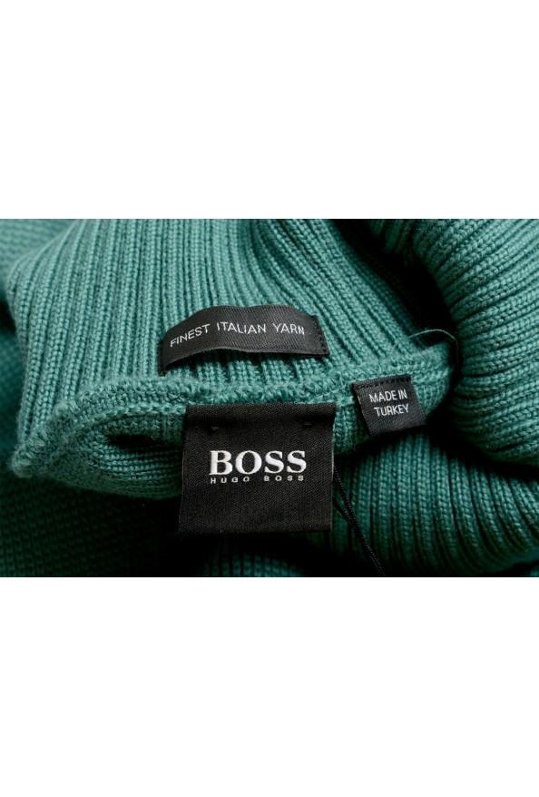 "Hugo Boss ""Dibuono"" Men's Green 100% Wool Turtleneck Pullover Sweater: Picture 6"
