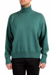 "Hugo Boss ""Dibuono"" Men's Green 100% Wool Turtleneck Pullover Sweater"