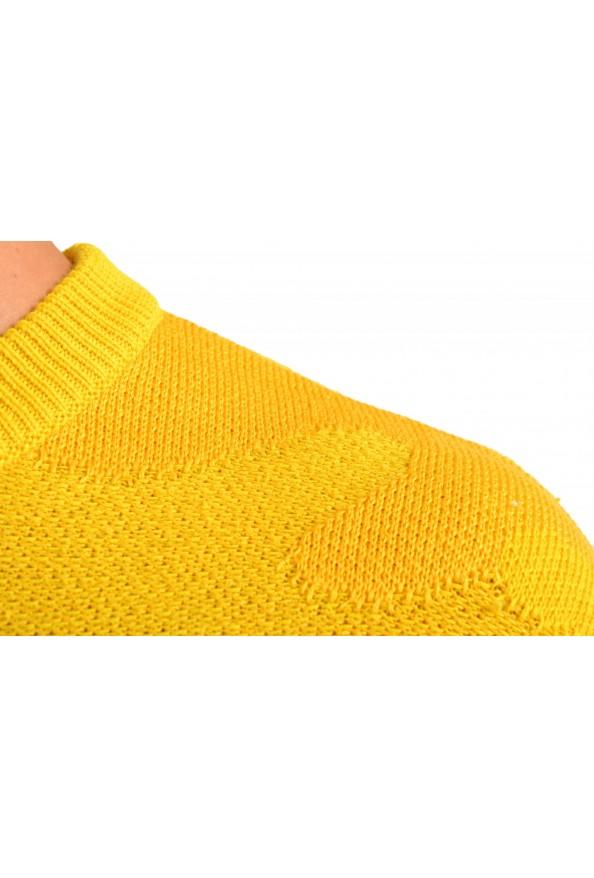 """Hugo Boss """"Piolo"""" Men's Bright Yellow Crewneck Pullover Sweater: Picture 4"""