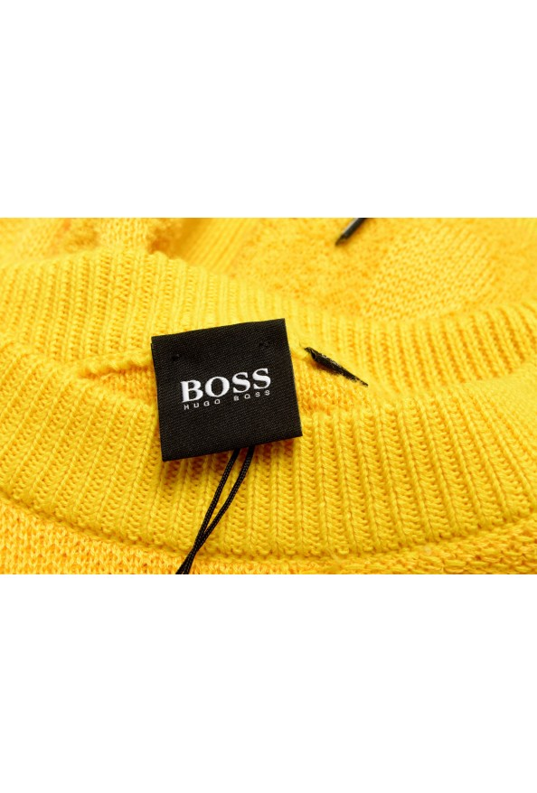 """Hugo Boss """"Piolo"""" Men's Bright Yellow Crewneck Pullover Sweater: Picture 6"""