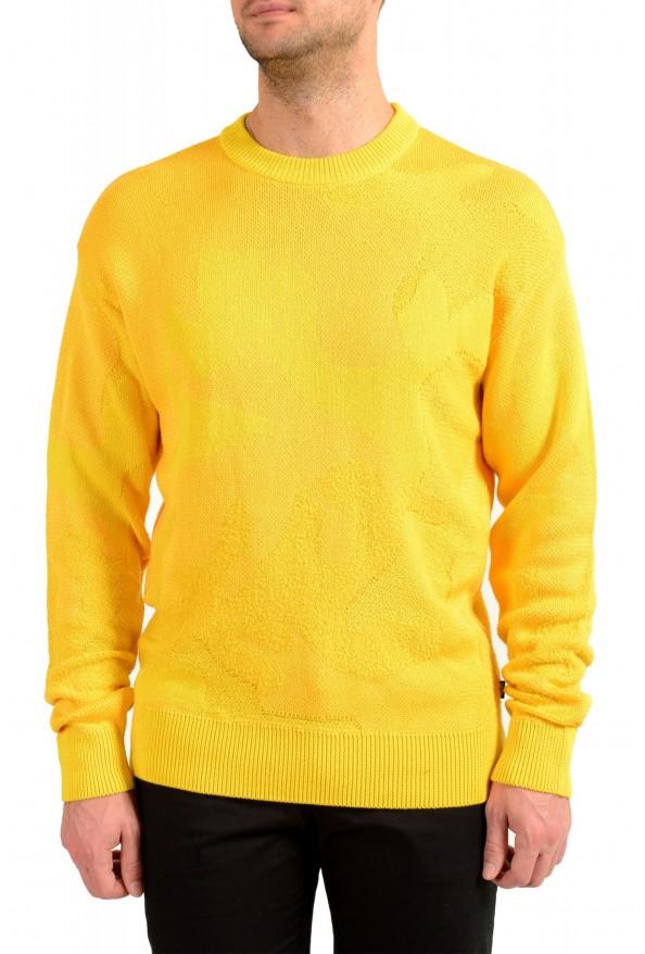 "Hugo Boss ""Piolo"" Men's Bright Yellow Crewneck Pullover Sweater"