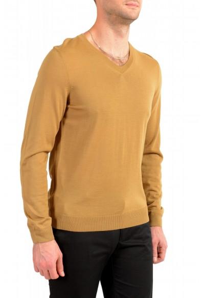 "Hugo Boss ""Melba-P"" Men's Brown V-Neck 100% Wool Pullover Sweater: Picture 2"