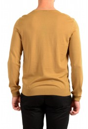 "Hugo Boss ""Melba-P"" Men's Brown V-Neck 100% Wool Pullover Sweater: Picture 3"