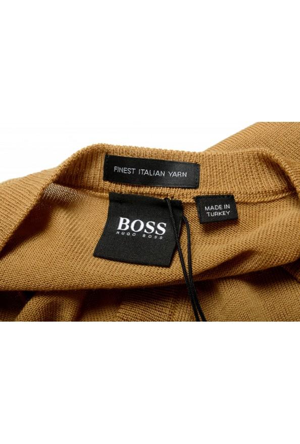 "Hugo Boss ""Melba-P"" Men's Brown V-Neck 100% Wool Pullover Sweater: Picture 5"