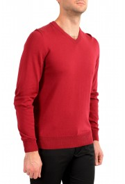"""Hugo Boss """"Pacello"""" Men's Red V-Neck Pullover Sweater: Picture 2"""