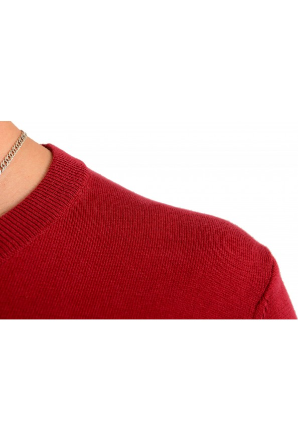 """Hugo Boss """"Pacello"""" Men's Red V-Neck Pullover Sweater: Picture 4"""