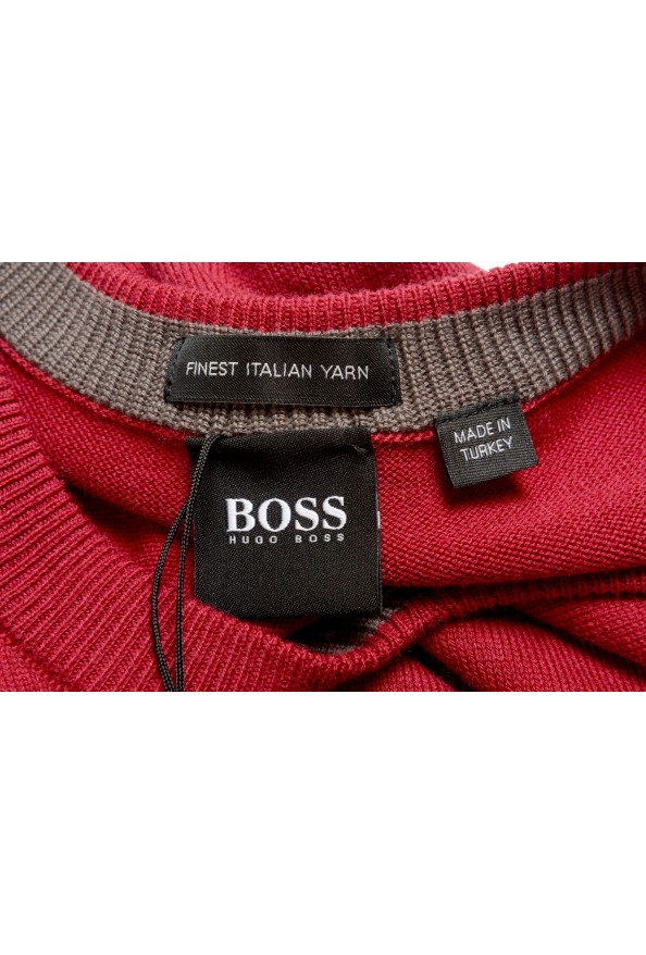 """Hugo Boss """"Pacello"""" Men's Red V-Neck Pullover Sweater: Picture 5"""