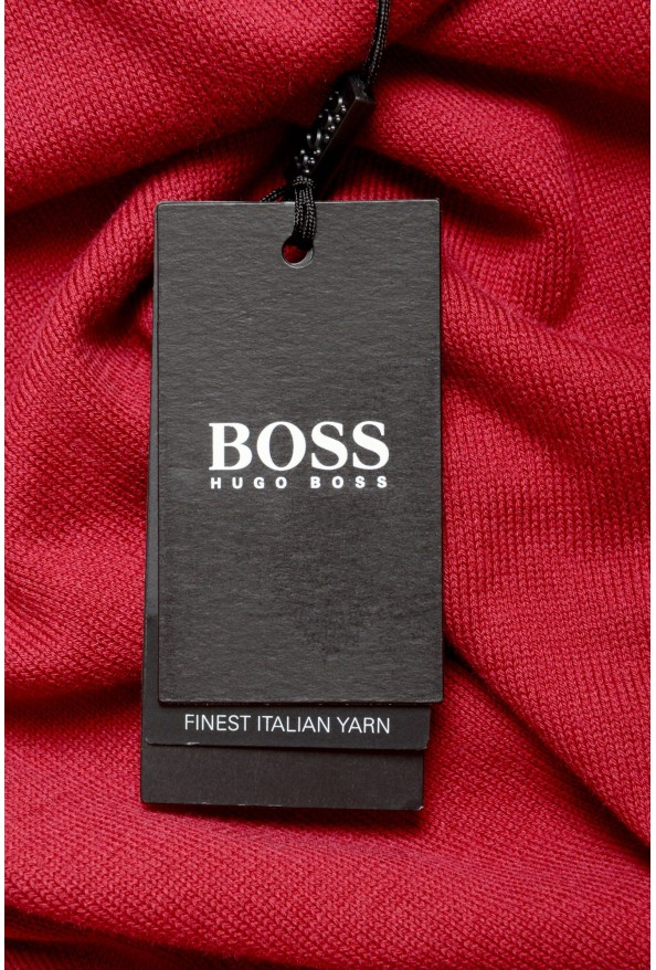 """Hugo Boss """"Pacello"""" Men's Red V-Neck Pullover Sweater: Picture 6"""