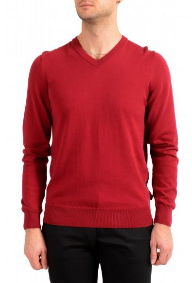 """Hugo Boss """"Pacello"""" Men's Red V-Neck Pullover Sweater"""