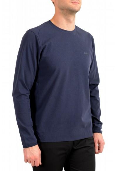"Hugo Boss Men's ""Salbonic"" Blue Crewneck Long Sleeve T-Shirt: Picture 2"