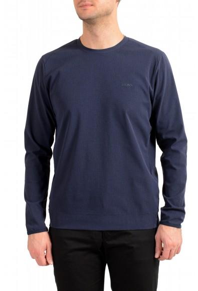 "Hugo Boss Men's ""Salbonic"" Blue Crewneck Long Sleeve T-Shirt"
