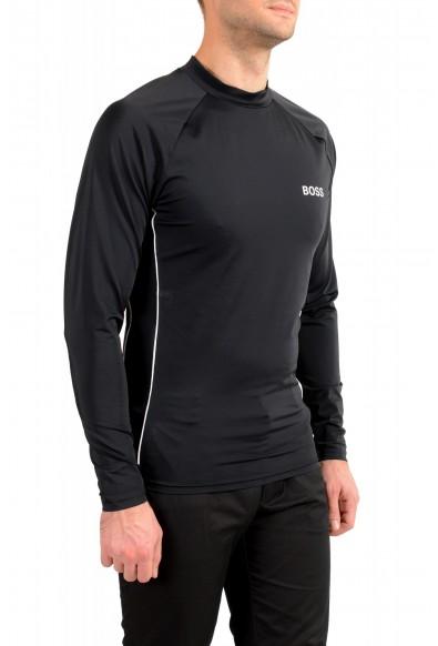 "Hugo Boss Men's ""LS-Shirt RN"" Black Sun Protection Slim Fit T-Shirt: Picture 2"