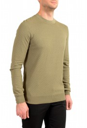 """Hugo Boss """"T-Pirro"""" Men's 100% Silk Olive Green Pullover Sweater: Picture 2"""