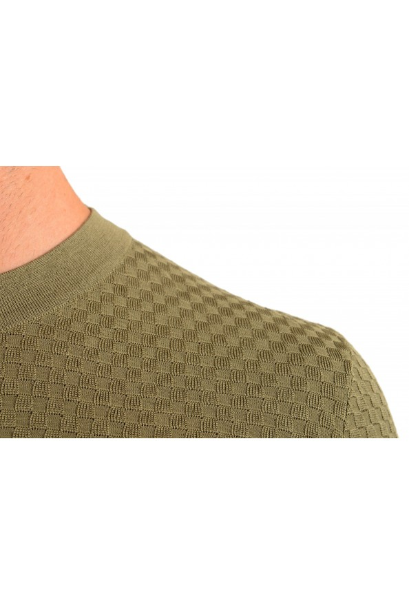 """Hugo Boss """"T-Pirro"""" Men's 100% Silk Olive Green Pullover Sweater: Picture 4"""
