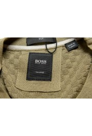 """Hugo Boss """"T-Pirro"""" Men's 100% Silk Olive Green Pullover Sweater: Picture 5"""