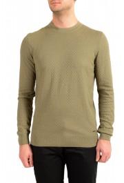 "Hugo Boss ""T-Pirro"" Men's 100% Silk Olive Green Pullover Sweater"
