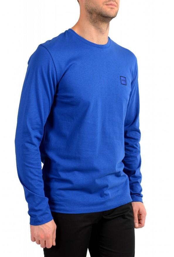 "Hugo Boss Men's ""Tacks"" Royal Blue Crewneck Long Sleeve T-Shirt: Picture 2"