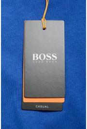 "Hugo Boss Men's ""Tacks"" Royal Blue Crewneck Long Sleeve T-Shirt: Picture 6"