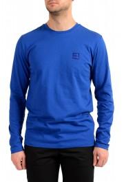 "Hugo Boss Men's ""Tacks"" Royal Blue Crewneck Long Sleeve T-Shirt"