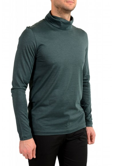 "Hugo Boss ""T-Tustin 06"" Men's Silk Green Turtleneck Pullover Sweater: Picture 2"